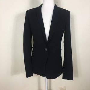 Rag & Bone Black One Button Close Blazer Jacket